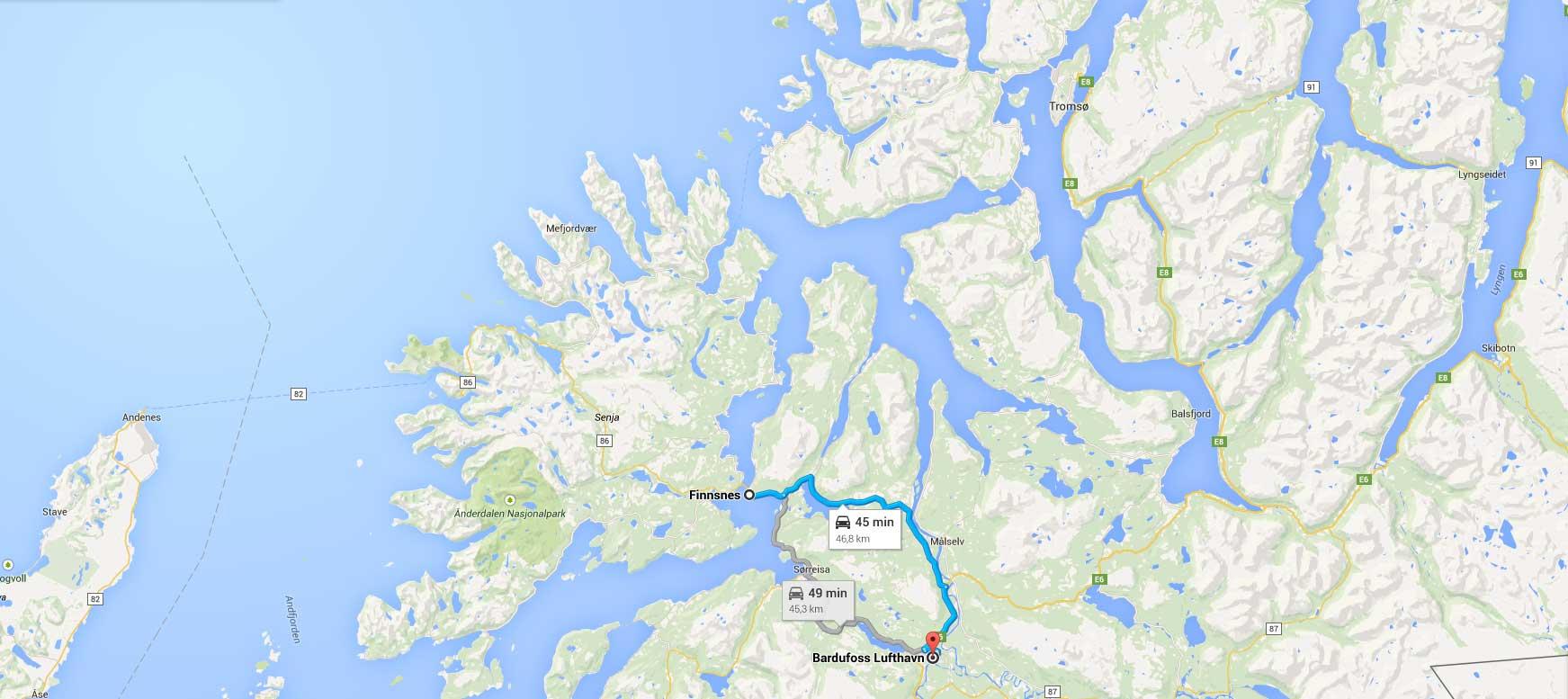 Finnsnes - Bardufoss