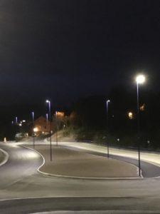 Ombygging av veier og busstopp tilhørte også prosjektet